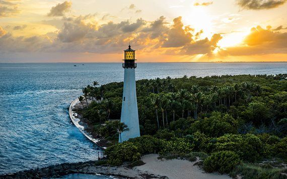 View of the Lighthouse at Bill Baggs Cape Florida State Park
