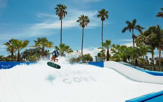 Flowrider at JW Marriott Miami Turnberry Resot & Spa's Tidal Cove