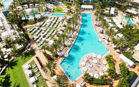 Cool off at the famous pools at Fontainebleau Miami Beach