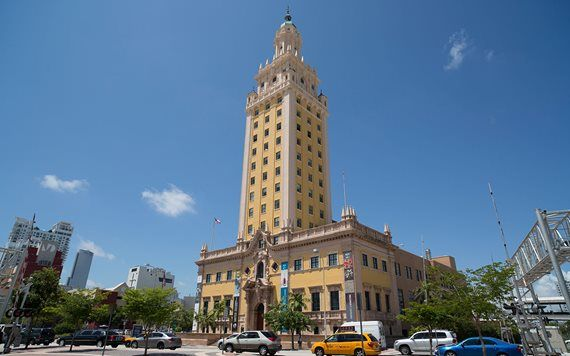 exterior of Freedom Tower in Downtown Miami