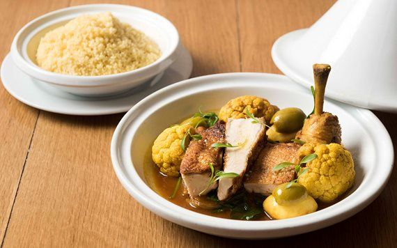 Chicken Tagine at Boulud Sud