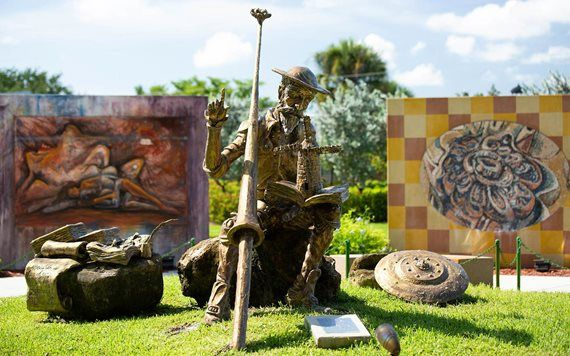 statue in Hialeah Garden of the Arts