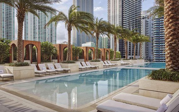 SLS LUX rooftop swimming pool