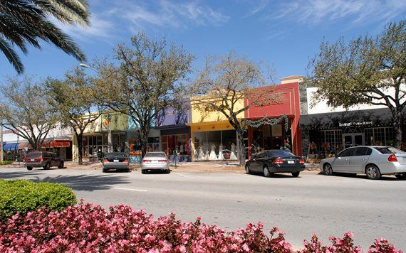 Miracle Mile shops in Coral Gables