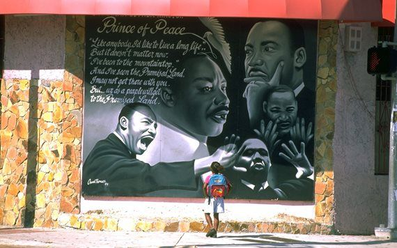 MLK Mural painted by the late Oscar Thomas