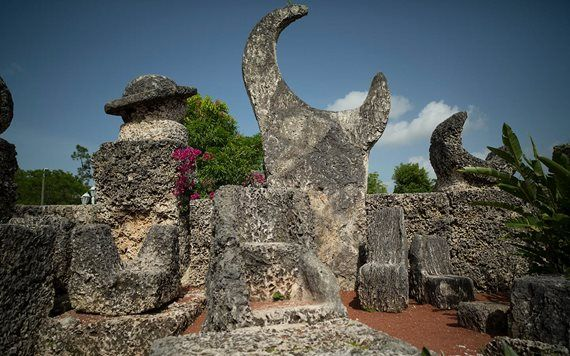 Coral Castle Obelisk and chairs